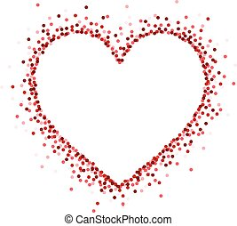 Valentine's love card. - Valentine's love card with red...