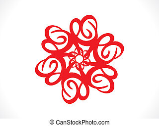 abstract artistic red floral background vector illustration
