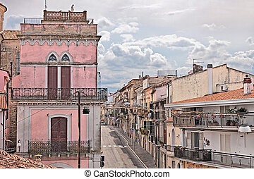 San Vito Chietino, Abruzzo, Italy - street in the old town...