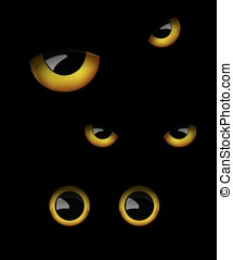 Owl eyes in the dark