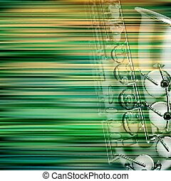 abstract grunge piano background with saxophone - abstract...