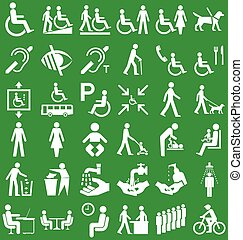 Disability and people Graphics - Silhouette disability and...