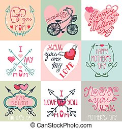 Mothers day cards set.Arrows, decor...