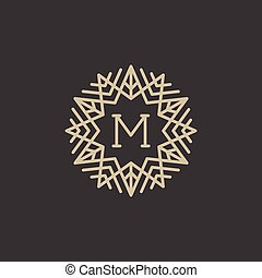 Monogram with letter M
