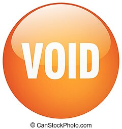 void orange round gel isolated push button