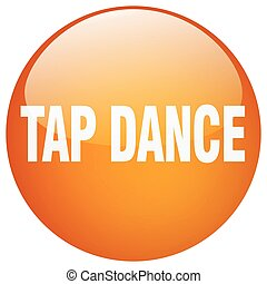 tap dance orange round gel isolated push button