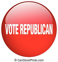 vote republican red round gel isolated push button