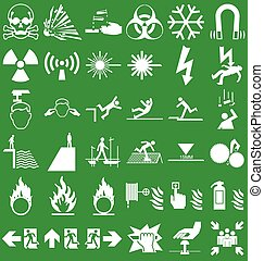 Hazard and danger Graphics - Silhouette hazard danger and...