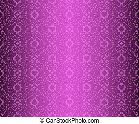 Vintage purple poker background with classic ornament and...