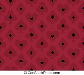 Seamless red poker background with transparent effect