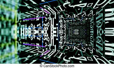 Futuristic Digital Tech Display 10693 - Futuristic digital...