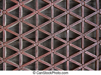 lattice made from carved wood