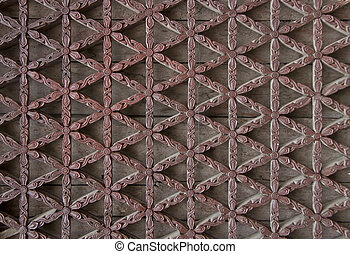 window lattice made from carved wood