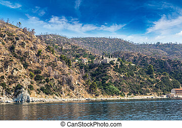 Mountaines Athos in Greece