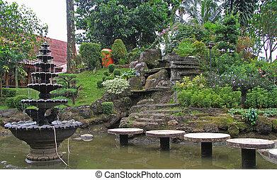 fountain in public park of Jakarta