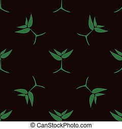 growing green plants, vector