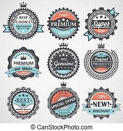 Set of premium quality badges