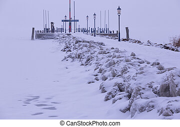 Cold winter day - Very cold winter day on the hungarian...