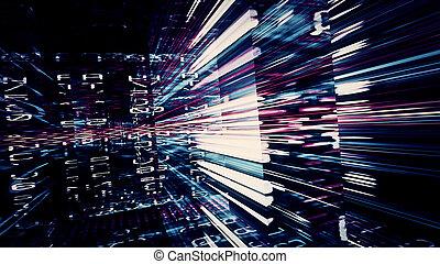 Futuristic Digital Tech Display 10714 - Futuristic digital...