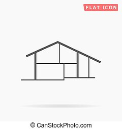 cottage simple flat icon - Cottage Icon Vector Cottage Icon...