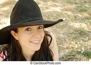 Vaquera, sombrero