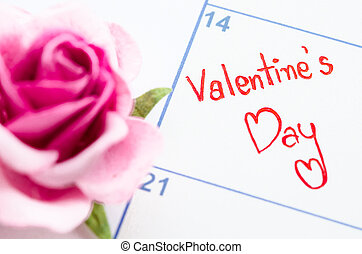 Valentines day concept with calendar.