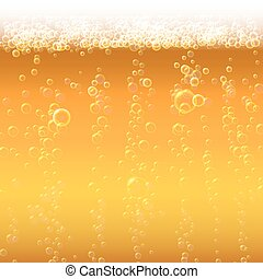 Background beer with foam and bubbles.
