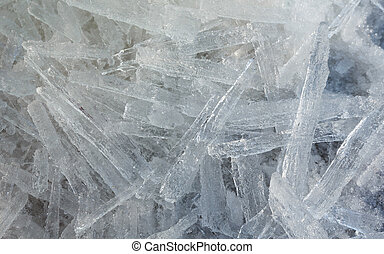 Glacial block of ice closeup - Glacial block of ice with...