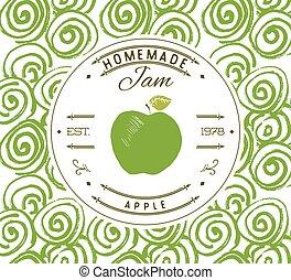 Jam label design template apple - Jam label design template...