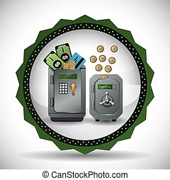 Money icons design - Financial item concept with money icons...
