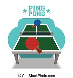 Ping Pong sport design - Sport concept with ping pong icons...