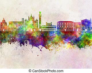 Siena skyline in watercolor