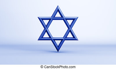 The Star of David on a grad background. 10688 from a series...