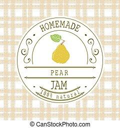 Jam label design template pear - Jam label design template...