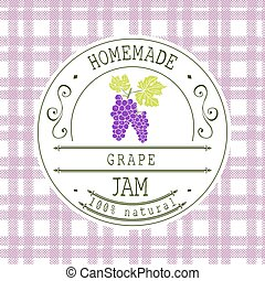 Jam label design template Grape - Jam label design template...