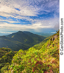 Worldrsquo;s End Horton Plains - World's End at morning...