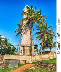 Lighthouse in Galle, Sri Lanka - Onshore Lighthouse in...
