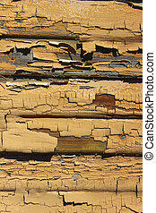 Old Chipped Pealing Paint - Pealing Paint on weathered wood...