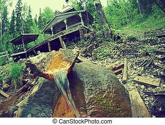 source of mineral water - kurtyaevo Arkhangelsk region of...