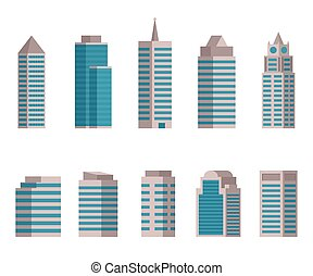 Vector illustration of Building icon on white background