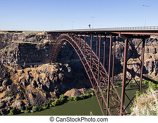 Perrine Bridge over the Snake River in Twin Falls, Idaho.