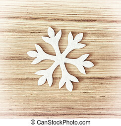 White snowflake, symbol of winter - White snowflake on the...