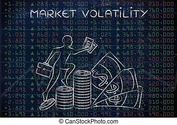 market volatility: performance results with trader climbing...
