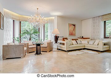 Showy and spacious living room - Photo of spacious living...