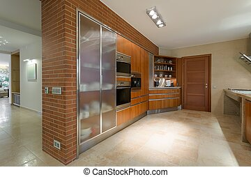 Grand and luxurious kitchen - Horizontal photo of grand and...