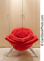 Avant-garde armchair in rose shape - Vertical image of...