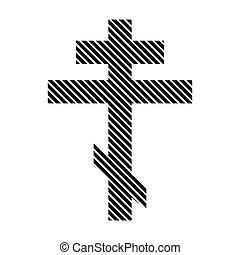 Religious orthodox cross sign. - Religious orthodox cross...