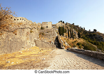 fortress of St Ivan Montenegro - the ruins of an ancient...