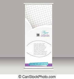 Roll up banner stand template Abstract background for design...