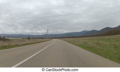 highway on mountain plateau, GoPro - highway on a mountain...